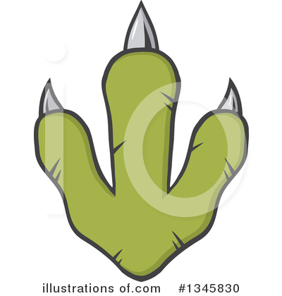 Paw Print Clipart #1345830 by Hit Toon