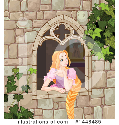 Royalty-Free (RF) Rapunzel Clipart Illustration by Pushkin - Stock Sample #1448485