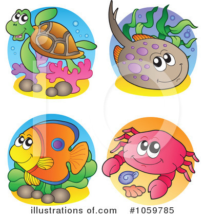 Ray Fish Clipart #1059785 by visekart