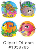 Royalty-Free (RF) Ray Fish Clipart Illustration #1059785