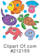 Royalty-Free (RF) Ray Fish Clipart Illustration #212159