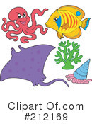 Royalty-Free (RF) Ray Fish Clipart Illustration #212169