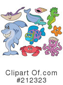 Royalty-Free (RF) Ray Fish Clipart Illustration #212323