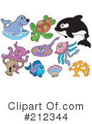 Royalty-Free (RF) Ray Fish Clipart Illustration #212344