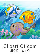 Royalty-Free (RF) Ray Fish Clipart Illustration #221419