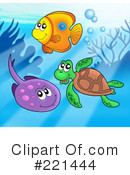 Royalty-Free (RF) Ray Fish Clipart Illustration #221444
