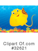 Royalty-Free (RF) Ray Fish Clipart Illustration #32621
