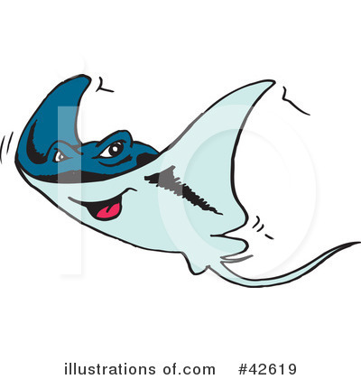 Ray Fish Clipart #42619 by Dennis Holmes Designs