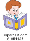Reading Clipart #1054428 by Alex Bannykh