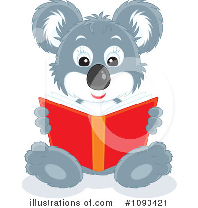 Reading Clipart #1090421 by Alex Bannykh