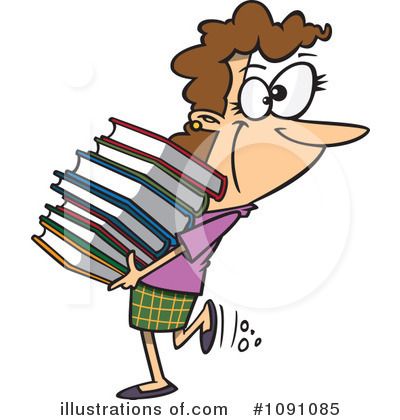 Librarian Clipart #1091085 by toonaday