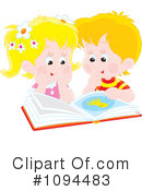 Royalty-Free (RF) Reading Clipart Illustration #1094483