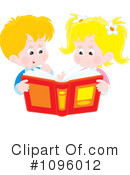 Reading Clipart #1096012 by Alex Bannykh