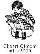 Reading Clipart #1115309 by Prawny Vintage