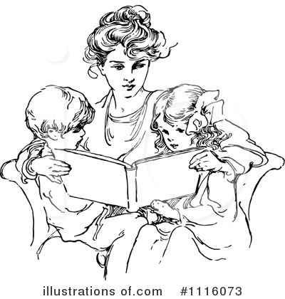 Reading Clipart #1116073 by Prawny Vintage