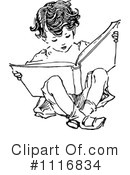 Reading Clipart #1116834 by Prawny Vintage