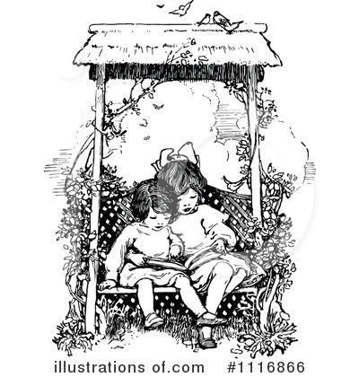 Reading Clipart #1116866 by Prawny Vintage