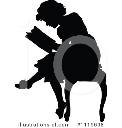 Reading Clipart #1119698 by Prawny Vintage