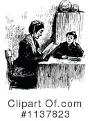 Reading Clipart #1137823 by Prawny Vintage