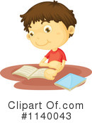 Reading Clipart #1140043 by Graphics RF