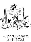 Reading Clipart #1146728 by Prawny Vintage