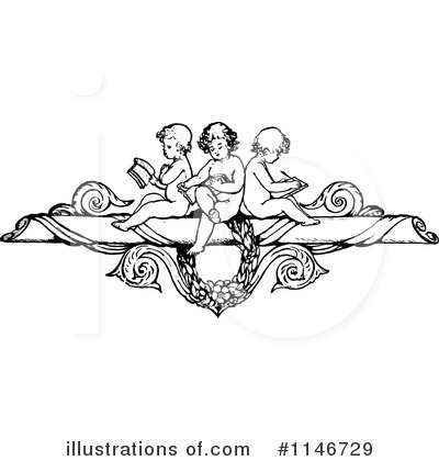Reading Clipart #1146729 by Prawny Vintage