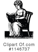 Reading Clipart #1146737 by Prawny Vintage