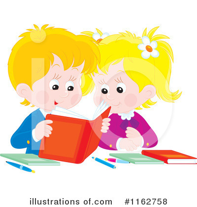 Reading Clipart #1162758 by Alex Bannykh