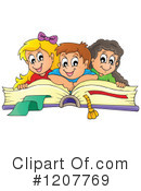 Royalty-Free (RF) Reading Clipart Illustration #1207769