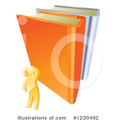 Reading Clipart #1230492 by AtStockIllustration