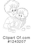 Reading Clipart #1243207 by Alex Bannykh