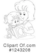Reading Clipart #1243208 by Alex Bannykh