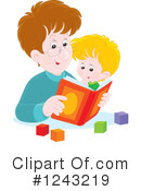 Reading Clipart #1243219 by Alex Bannykh