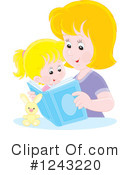 Reading Clipart #1243220 by Alex Bannykh