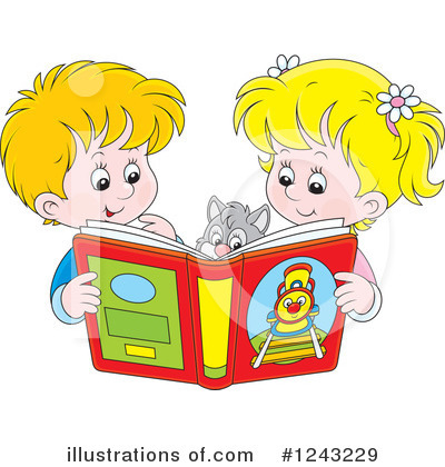 Royalty-Free (RF) Reading Clipart Illustration by Alex Bannykh - Stock Sample #1243229