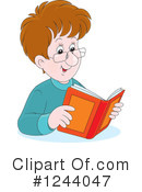 Reading Clipart #1244047 by Alex Bannykh