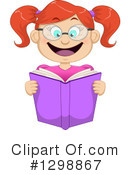 Reading Clipart #1298867 by Liron Peer