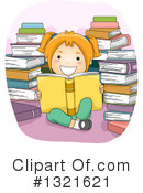 Reading Clipart #1321621 by BNP Design Studio