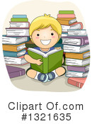 Reading Clipart #1321635 by BNP Design Studio
