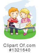 Reading Clipart #1321640 by BNP Design Studio