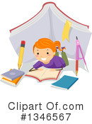 Reading Clipart #1346567 by BNP Design Studio