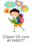 Reading Clipart #1346577 by BNP Design Studio