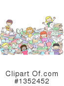 Royalty-Free (RF) Reading Clipart Illustration #1352452