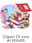 Reading Clipart #1352455 by BNP Design Studio