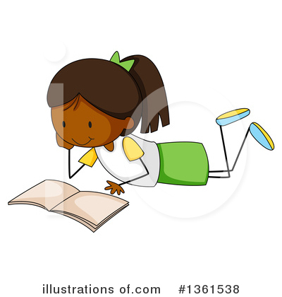 Reading Clipart #1361538 by Graphics RF