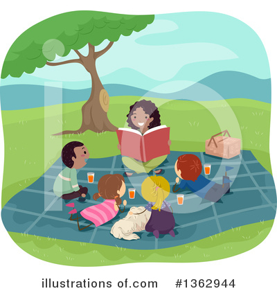 Library Clipart #1362944 by BNP Design Studio