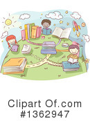Reading Clipart #1362947 by BNP Design Studio