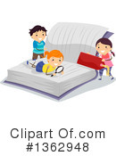 Reading Clipart #1362948 by BNP Design Studio