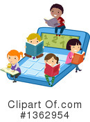 Reading Clipart #1362954 by BNP Design Studio