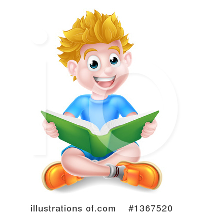 Reading Clipart #1367520 by AtStockIllustration